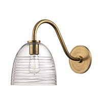 Hudson Valley Lighting Remsen 1 Light Wall Sconce in Aged Brass 1611-AGB