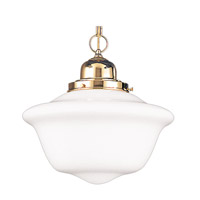 Hudson Valley Lighting Edison 1 Light Pendant in Polished Brass 1612-PB