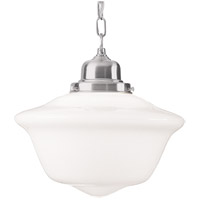 Edison 1 Light 15 inch Satin Nickel Pendant Ceiling Light