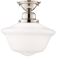 Hudson Valley 1615F-PN Edison 1 Light 15 inch Polished Nickel Semi Flush Ceiling Light