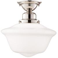 Hudson Valley 1615F-PN Edison 1 Light 15 inch Polished Nickel Semi Flush Ceiling Light