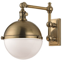 Hudson Valley Lighting Stanley 1 Light Wall Sconce in Aged Brass 1671-AGB