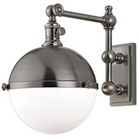 Hudson Valley Lighting Stanley 1 Light Wall Sconce in Antique Nickel 1671-AN