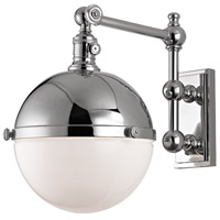 Hudson Valley Lighting Stanley 1 Light Wall Sconce in Polished Nickel 1671-PN