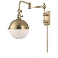 Hudson Valley Lighting Stanley 1 Light Wall Sconce in Aged Brass 1672-AGB