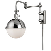 Hudson Valley Lighting Stanley 1 Light Wall Sconce in Polished Nickel 1672-PN
