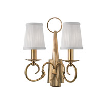 Hudson Valley Lighting Caldwell 2 Light Wall Sconce in Aged Brass 1692-AGB