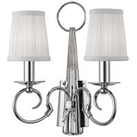 Caldwell 2 Light 12 inch Polished Nickel Wall Sconce Wall Light