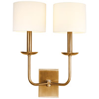 Hudson Valley 1712-AGB Kings Point 2 Light 15 inch Aged Brass Wall Sconce Wall Light