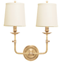 Hudson Valley 172-AGB Logan 2 Light 16 inch Aged Brass Wall Sconce Wall Light