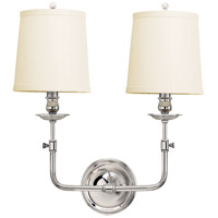 Hudson Valley 172-PN Logan 2 Light 16 inch Polished Nickel Wall Sconce Wall Light
