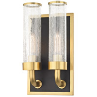 Soriano 2 Light 9 inch Aged Brass Wall Sconce Wall Light