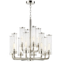 Hudson Valley 1726-PN Soriano 12 Light 26 inch Polished Nickel Chandelier Ceiling Light