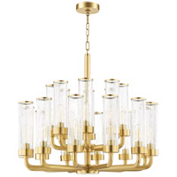 Soriano 20 Light 32 inch Aged Brass Chandelier Ceiling Light