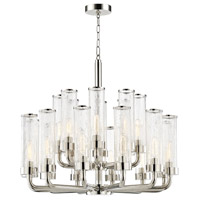 Soriano 20 Light 32 inch Polished Nickel Chandelier Ceiling Light