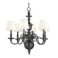 Charleston 6 Light 29 inch Old Bronze Chandelier Ceiling Light