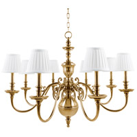 Charleston 8 Light 36 inch Aged Brass Chandelier Ceiling Light