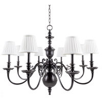 Charleston 8 Light 36 inch Old Bronze Chandelier Ceiling Light