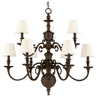 Charleston 9 Light 36 inch Old Bronze Chandelier Ceiling Light