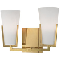 Upton 2 Light 12 inch Aged Brass Bath Vanity Wall Light
