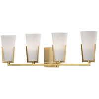 Upton 4 Light 26 inch Aged Brass Bath Vanity Wall Light
