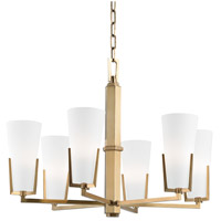 Hudson Valley 1806-AGB Upton 6 Light 26 inch Aged Brass Chandelier Ceiling Light