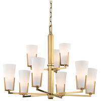Hudson Valley Lighting Upton 9 Light Chandelier in Aged Brass 1809-AGB