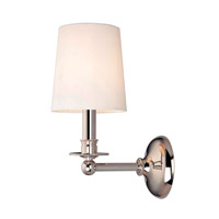 Hudson Valley Lighting Gibson 1 Light Wall Sconce in Polished Nickel 181-PN