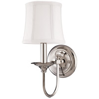Hudson Valley Lighting Rockville 1 Light Wall Sconce in Polished Nickel 1811-PN photo thumbnail
