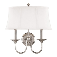 Hudson Valley Lighting Rockville 2 Light Wall Sconce in Polished Nickel 1812-PN