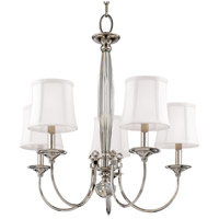 Rockville 5 Light 26 inch Polished Nickel Chandelier Ceiling Light