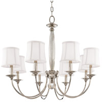 Rockville 8 Light 33 inch Polished Nickel Chandelier Ceiling Light