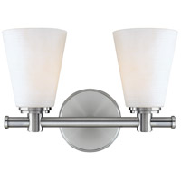 Garland 2 Light 12 inch Polished Nickel Bath And Vanity Wall Light