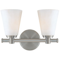 Hudson Valley 1842-SN Garland 2 Light 12 inch Satin Nickel Bath And Vanity Wall Light