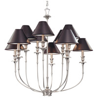 Jasper 10 Light 35 inch Antique Nickel Chandelier Ceiling Light