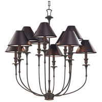 Jasper 10 Light 35 inch Old Bronze Chandelier Ceiling Light