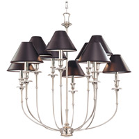 Jasper 10 Light 35 inch Polished Nickel Chandelier Ceiling Light