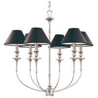 Jasper 6 Light 29 inch Antique Nickel Chandelier Ceiling Light