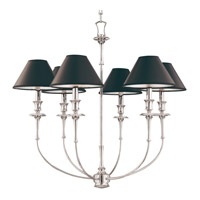 Hudson Valley Lighting Jasper 6 Light Chandelier in Polished Nickel 1866-PN