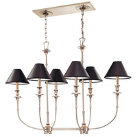Jasper 6 Light 39 inch Antique Nickel Island Light Ceiling Light