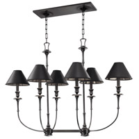 Jasper 6 Light 39 inch Old Bronze Island Light Ceiling Light