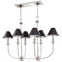 Jasper 6 Light 39 inch Polished Nickel Island Light Ceiling Light