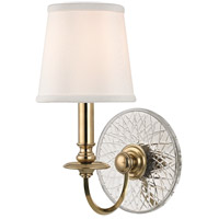 Hudson Valley Lighting Yates 1 Light Wall Sconce in Aged Brass 1881-AGB