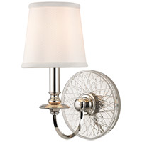 Hudson Valley Lighting Yates 1 Light Wall Sconce in Polished Nickel 1881-PN