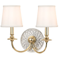 Yates 2 Light 16 inch Aged Brass Wall Sconce Wall Light