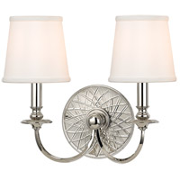 Hudson Valley Lighting Yates 2 Light Wall Sconce in Polished Nickel 1882-PN