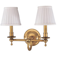 Hudson Valley Lighting Newport 2 Light Wall Sconce in Aged Brass 1902-AGB