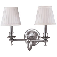 Hudson Valley Lighting Newport 2 Light Wall Sconce in Polished Nickel 1902-PN