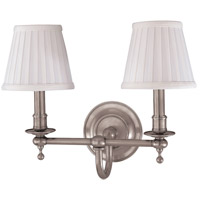 Hudson Valley 1902-SN Beekman 2 Light 15 inch Satin Nickel Wall Sconce Wall Light