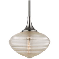Knox 1 Light 12 inch Satin Nickel Pendant Ceiling Light